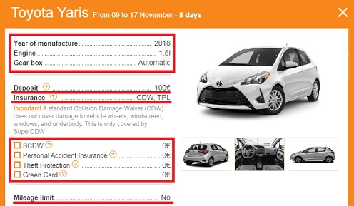 Rent a car in Podgorica and Montenegro without deposit and franchises